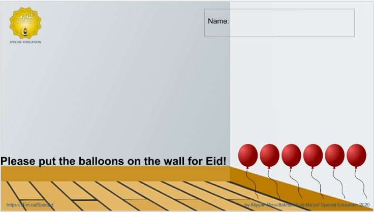 Drag N Drop Eid Balloons (Google Slides)