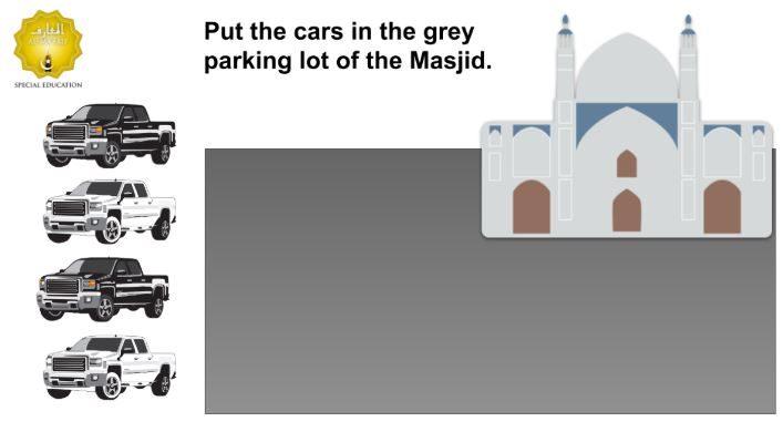 Drag N Drop Cars To Masjid Game (Google Slides)