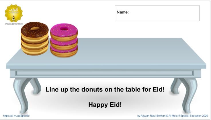 Drag n Drop Eid Donuts (Google Slides)